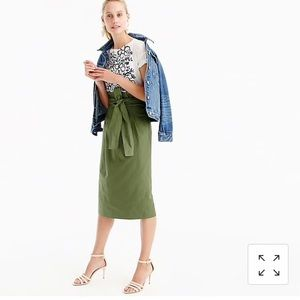 j. crew paper bag skirt in twill